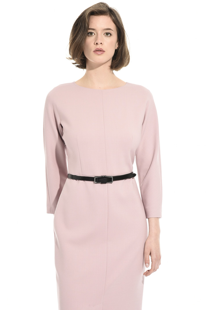 Wool crepe sheath dress Intrend