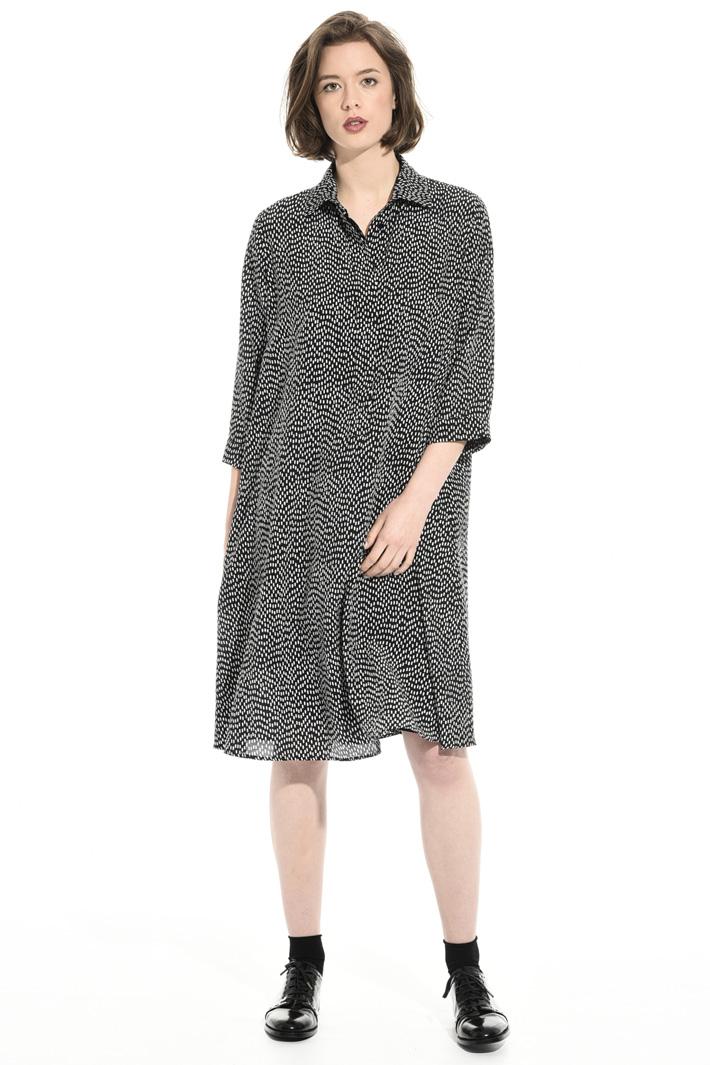 Oversized silk crepe dress Intrend