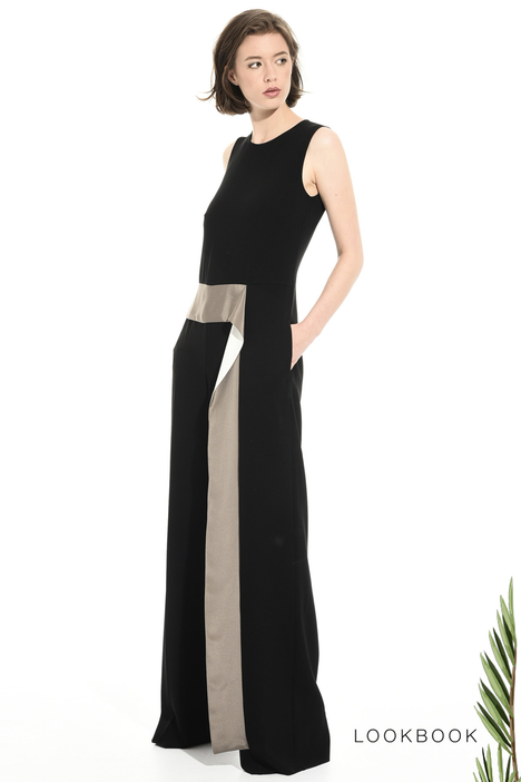 Long triacetate jumpsuit Intrend