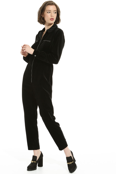 Smooth velvet jumpsuit Intrend