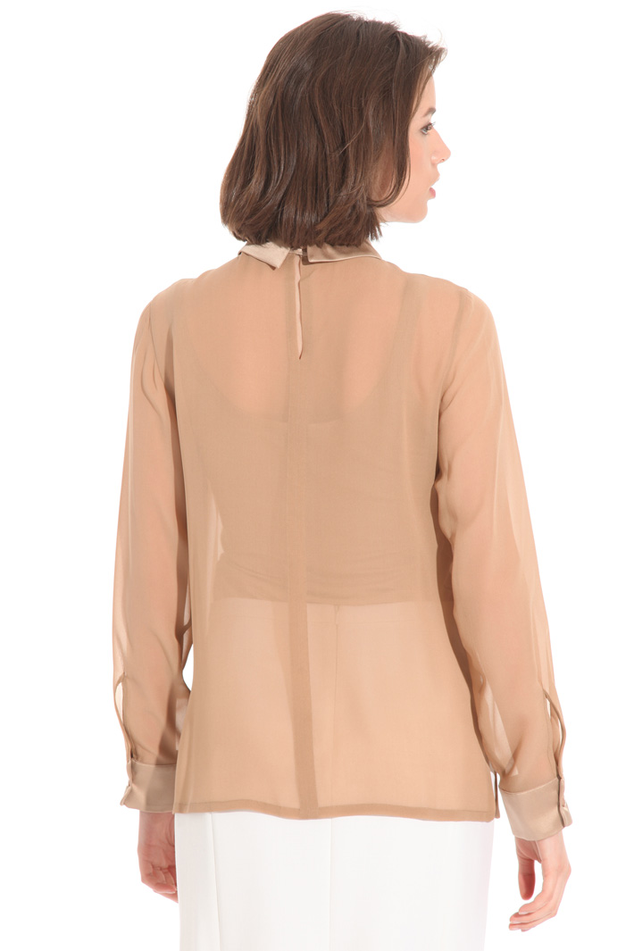 Georgette and satin blouse Intrend