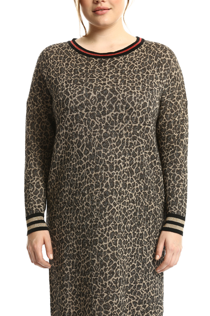 Knitted jacquard dress Intrend