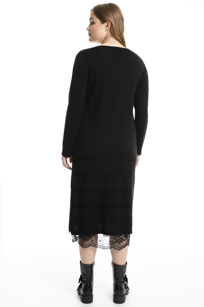 Lace knit dress Intrend