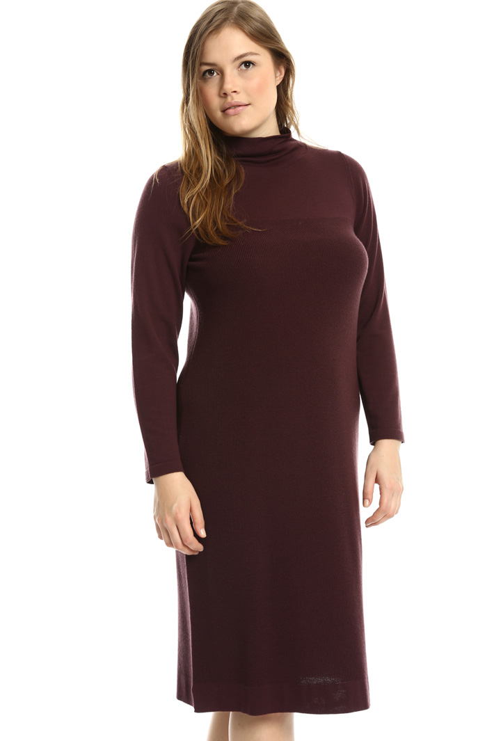 High neck knit dress Intrend