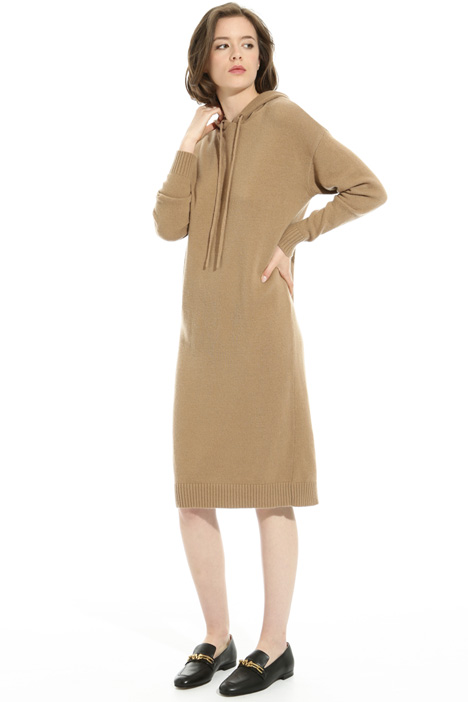 Hooded knit dress Intrend