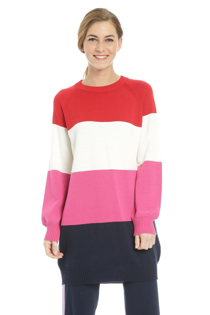 Multicoloured striped dress Intrend