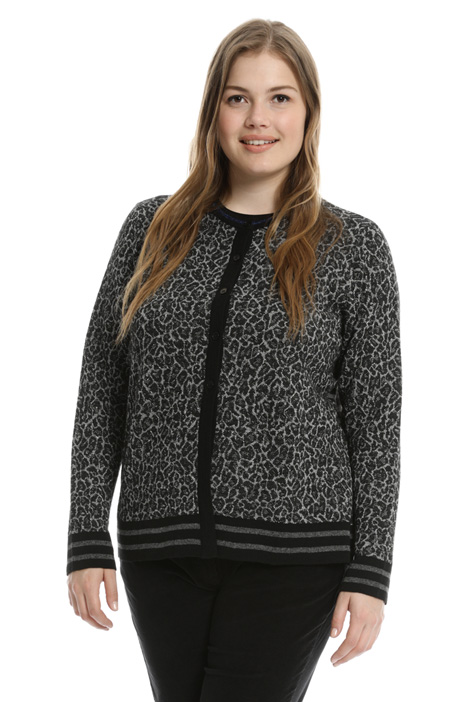Spotted jacquard cardigan Intrend