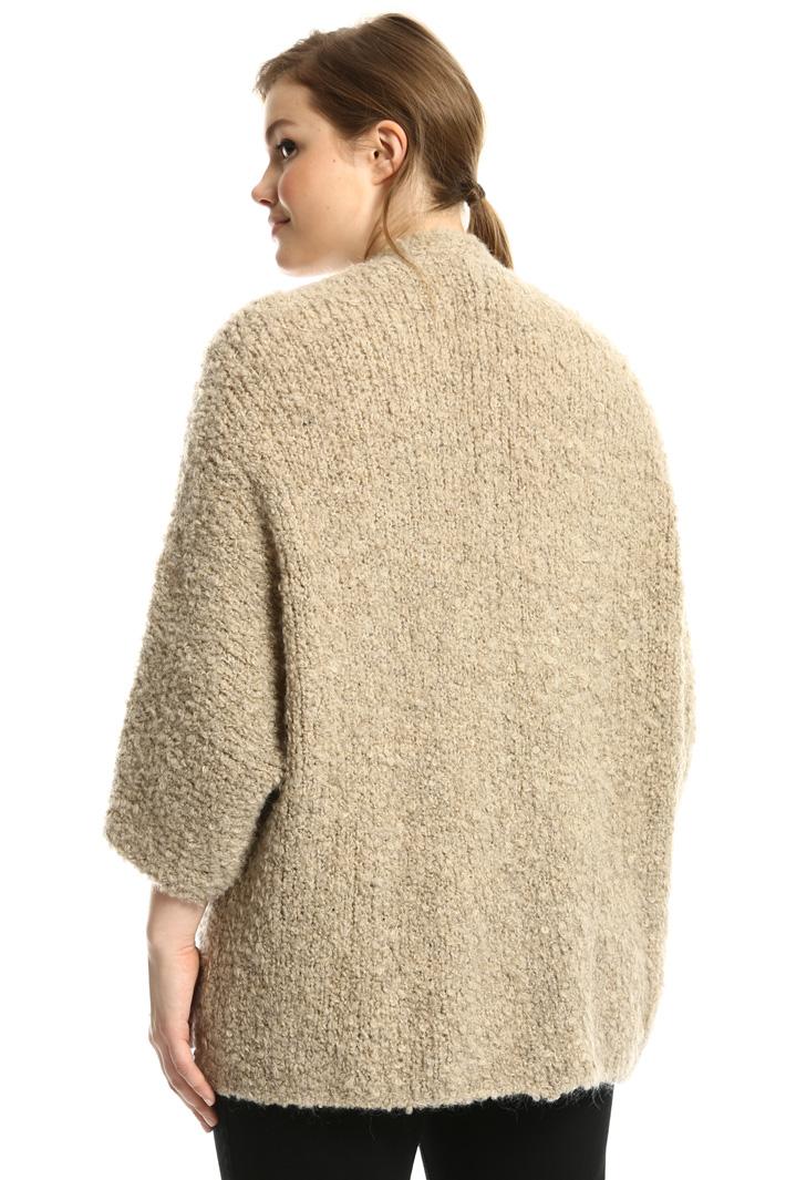 Bouclé wool hood  Intrend