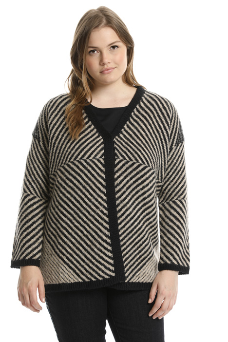Striped jacquard cardigan Intrend