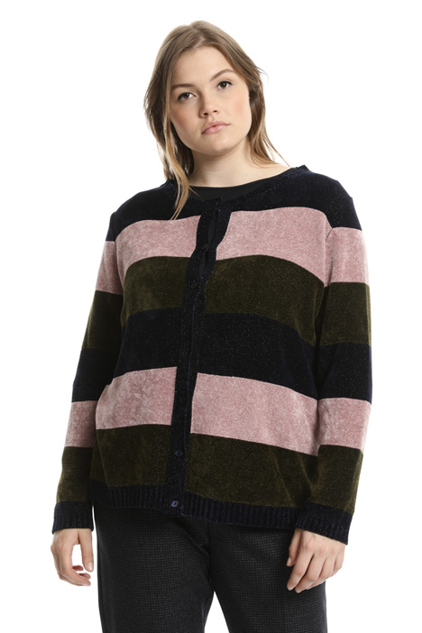Cardigan in ciniglia lurex Intrend