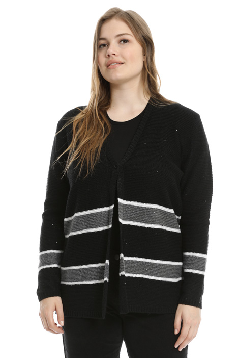 Open front jacquard cardigan Intrend