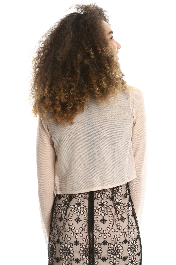 Knitted shrug in crepe fabric Intrend