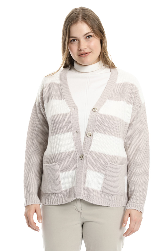 Striped wool blend cardigan  Intrend