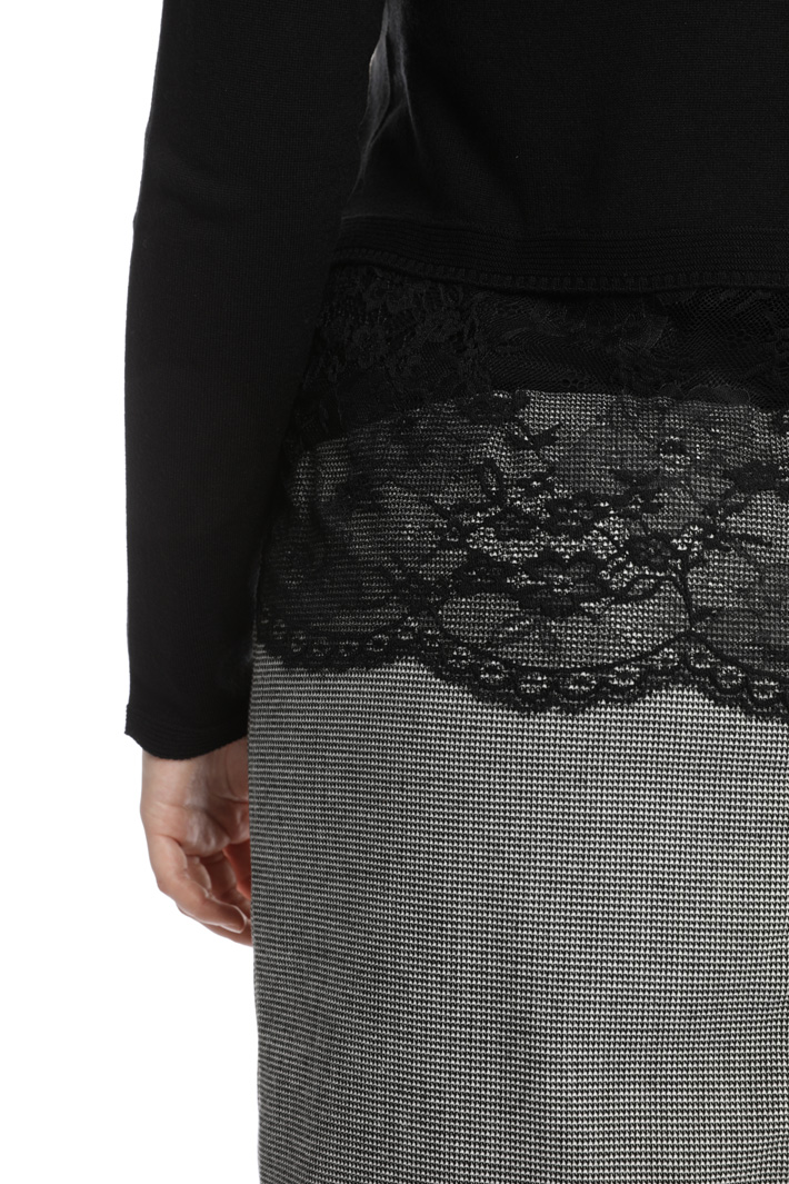 Wool and lace cardigan  Intrend