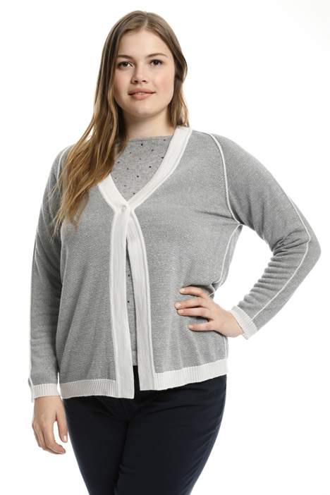 Links-links stitch cardigan Intrend