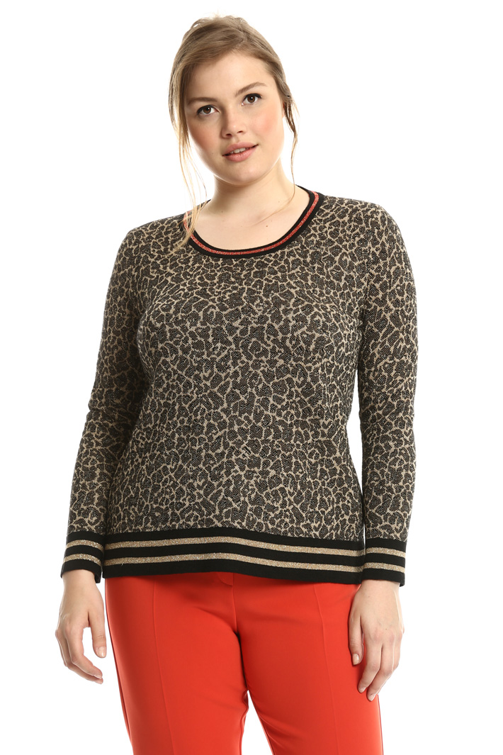 Spotted jacquard sweater Intrend