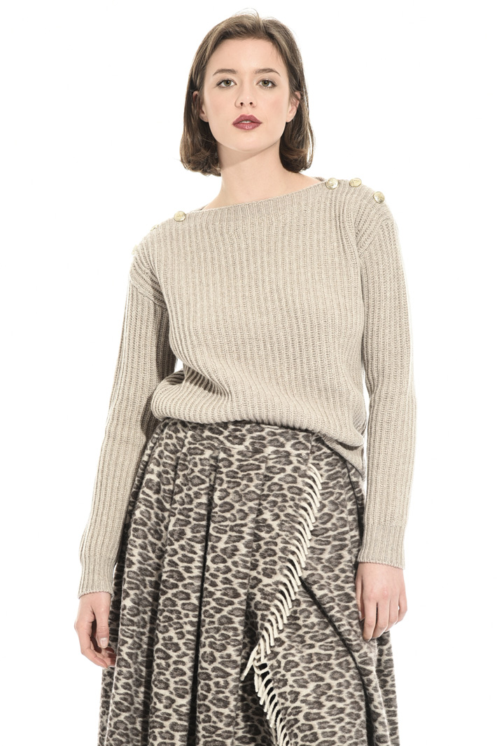 Ribbed cashmere sweater Intrend