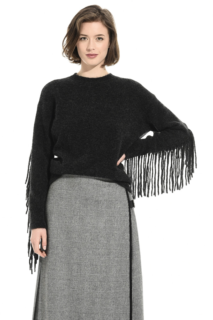 Fringed mohair sweater Intrend