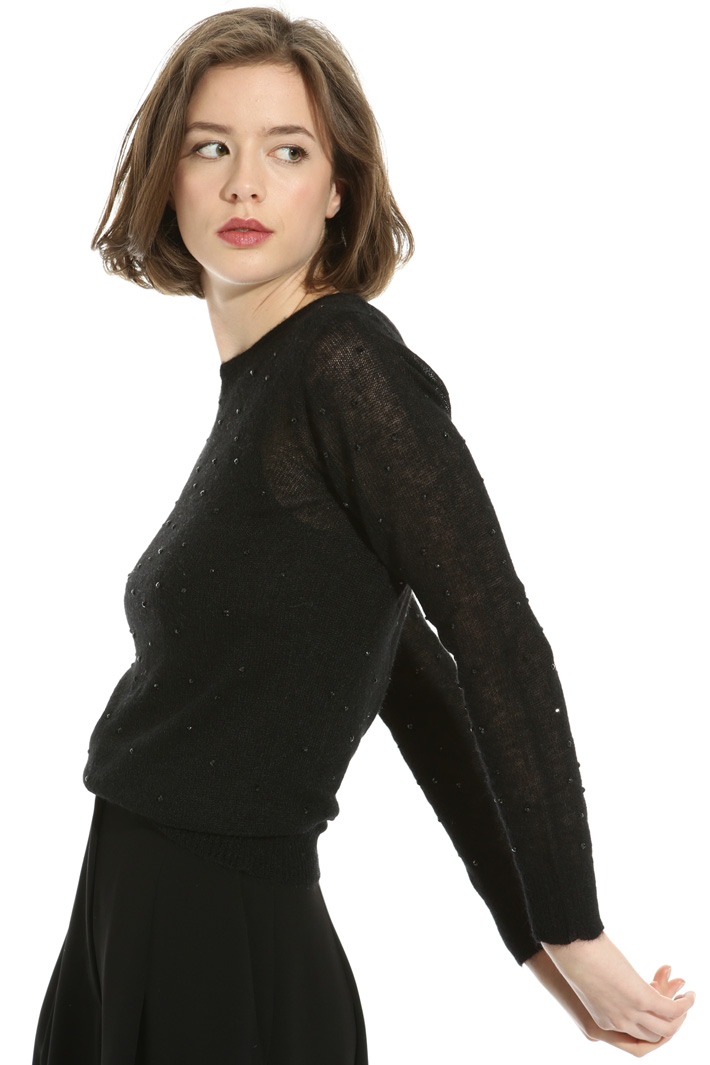 Mohair sweater with beads Intrend