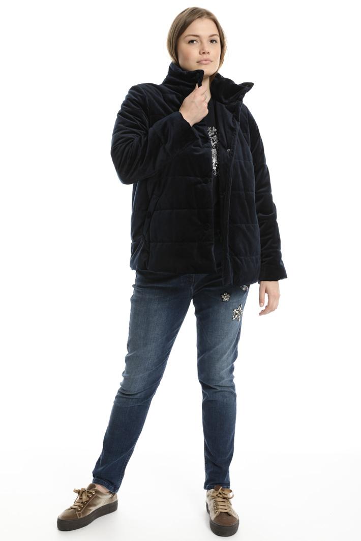 Velvet bomber jacket  Intrend