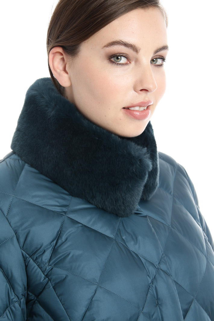 Lapin trim collar down coat Intrend