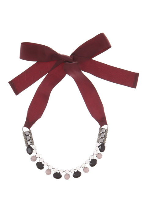 Rhinestone and metal necklace  Intrend