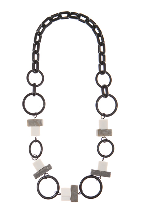 Necklace with rings and bars  Intrend