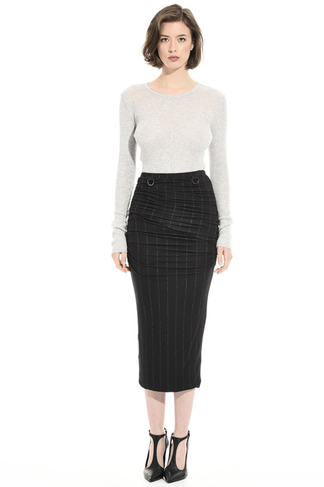 Printed jersey sheath skirt Intrend