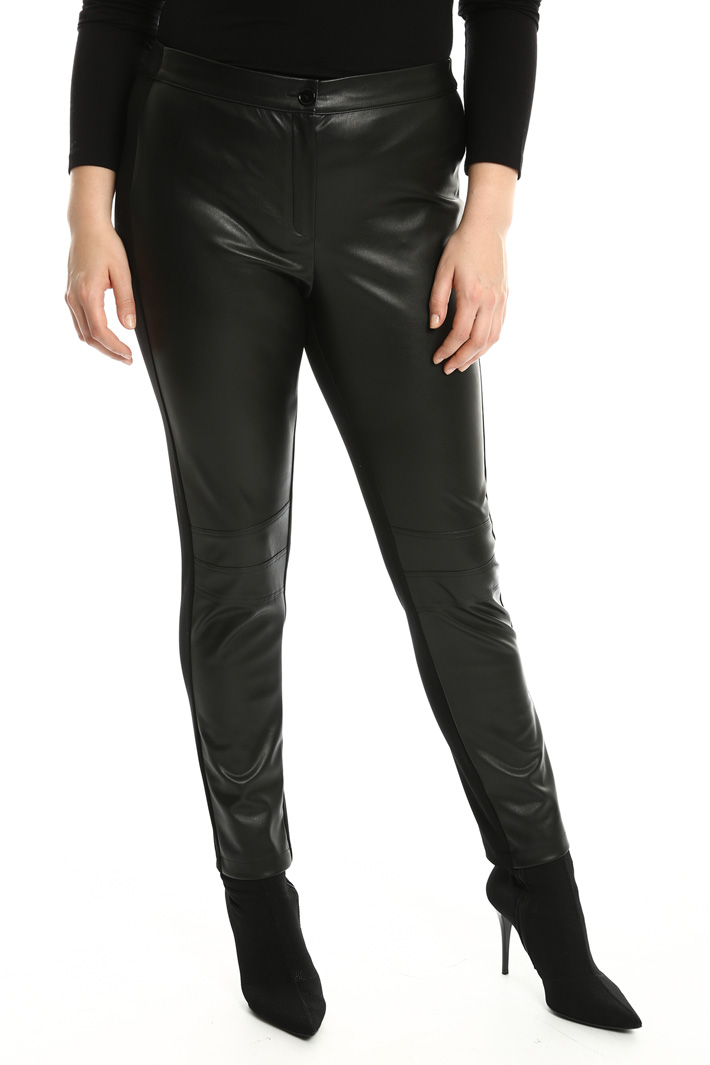 Leather effect trousers Intrend