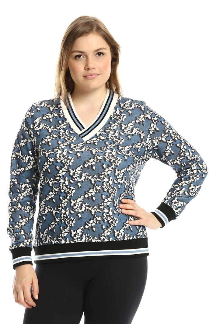 Printed jersey sweatshirt Intrend