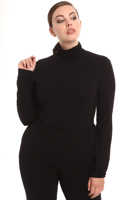 Viscose jersey turtleneck top Intrend
