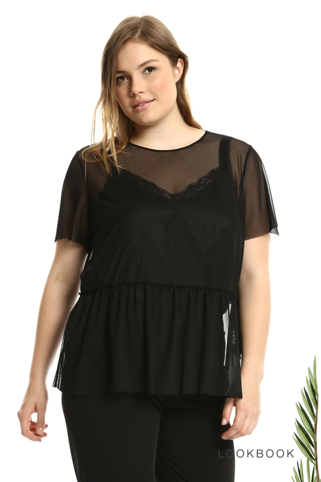 T-shirt in tulle stretch Intrend
