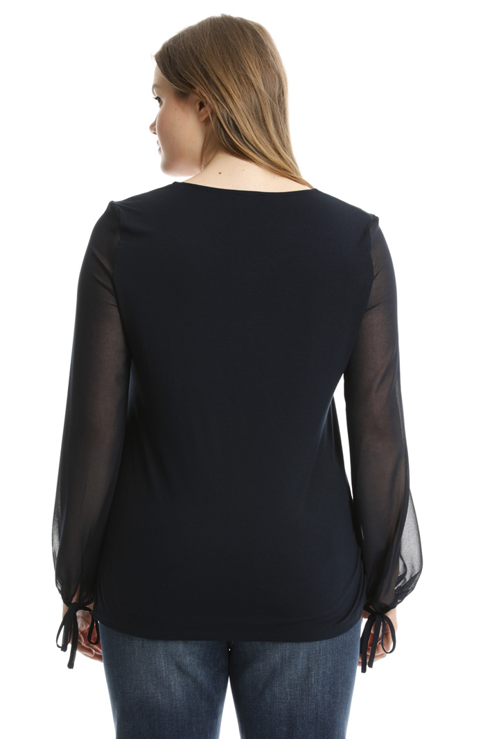 Jersey and fabric tunic  Intrend