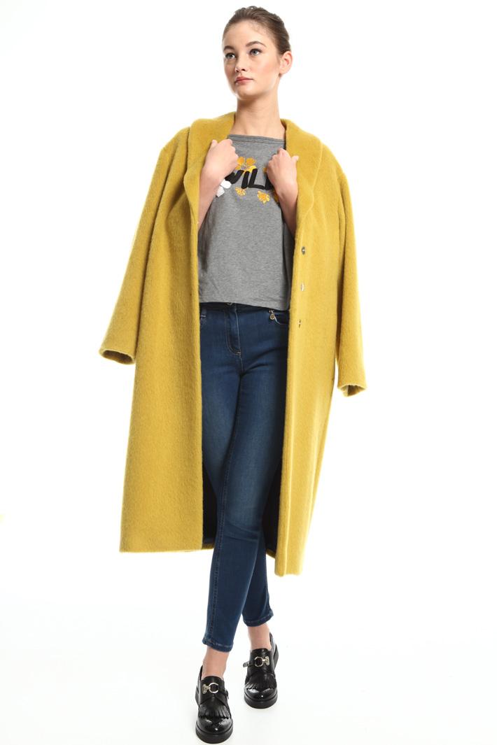 Mohair blend coat Intrend