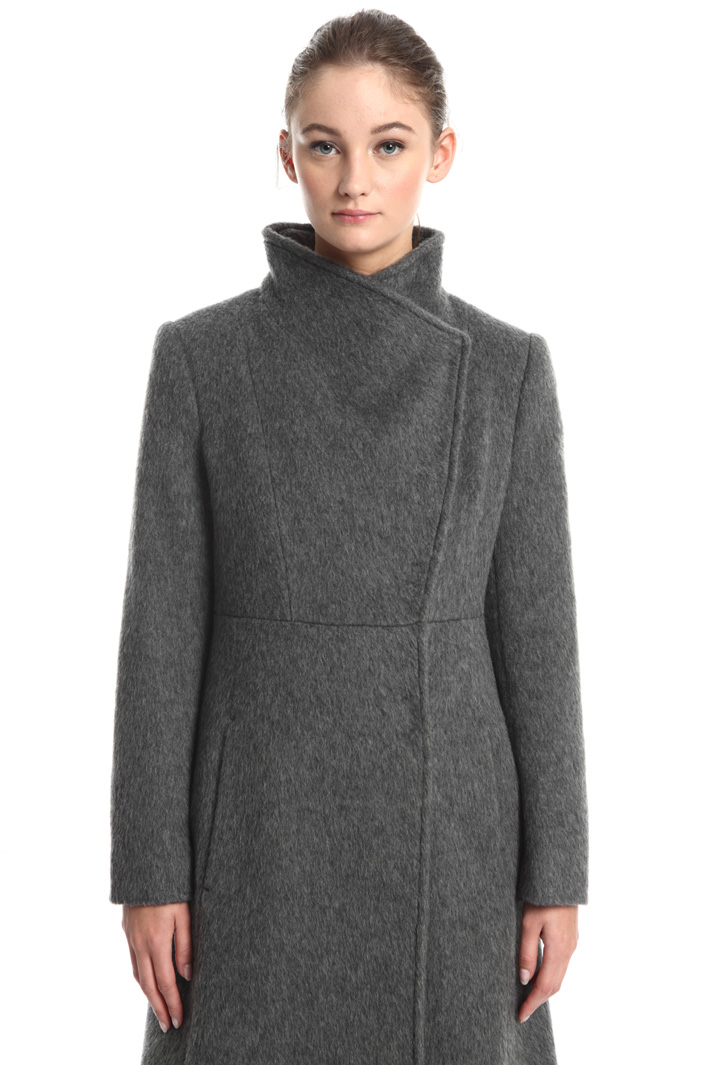 Double-breasted mohair coat Intrend