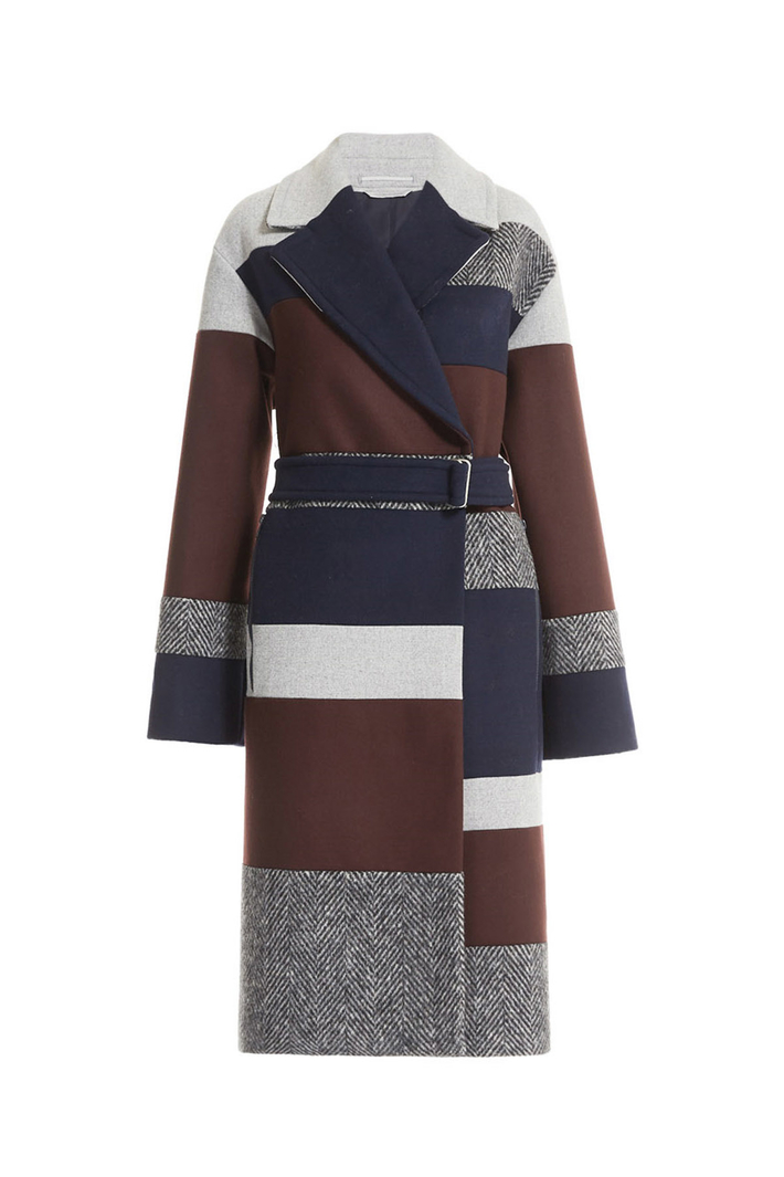 Felted coat with belt Intrend