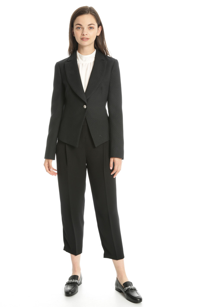 Rounded lapel blazer Intrend