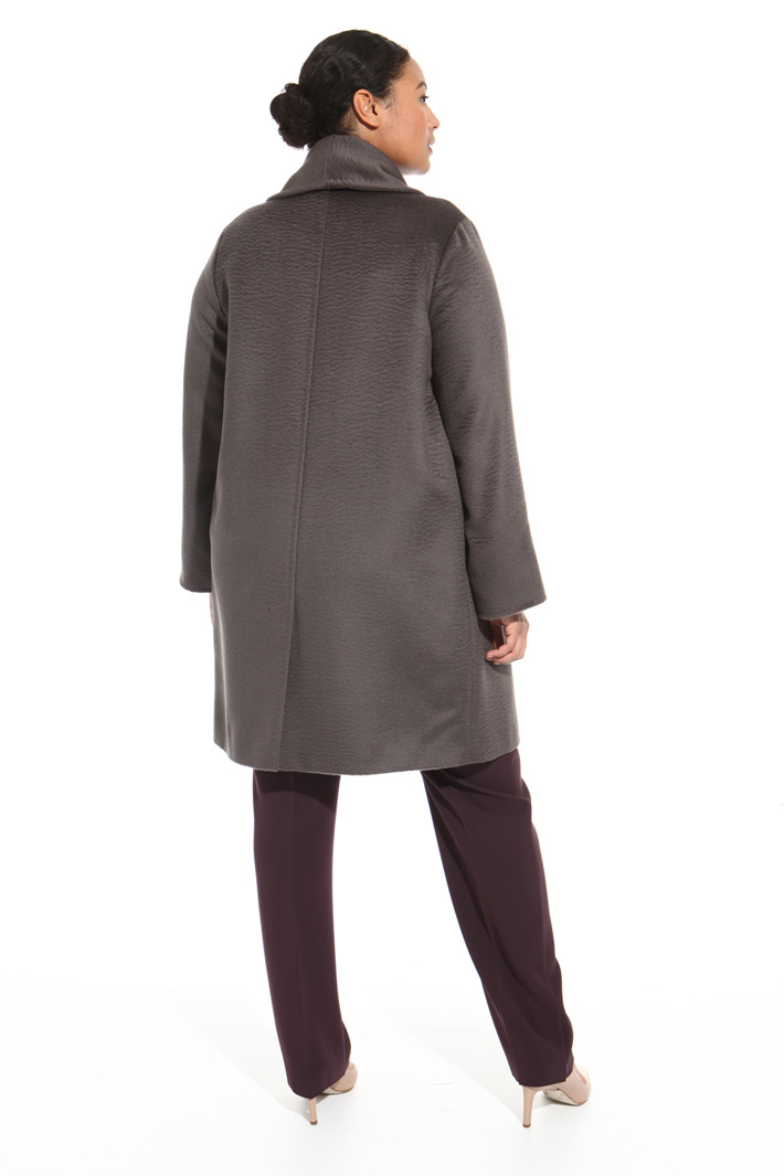 Alpaca drap coat Intrend