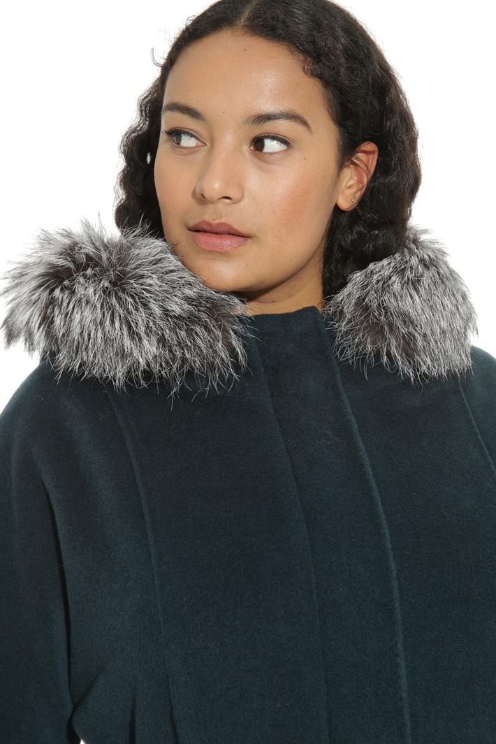 Wool beaver parka coat Intrend