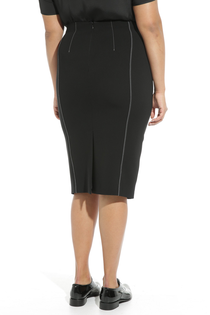 Triacetate sheath skirt Intrend