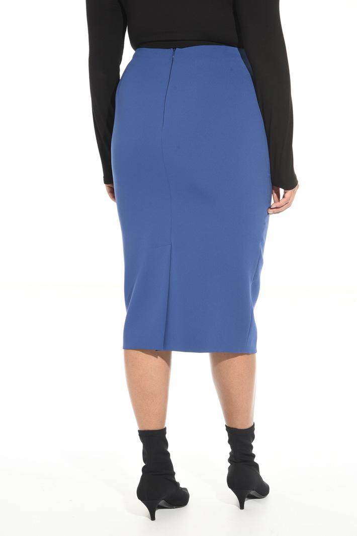Triacetate sheath skirt Intrend