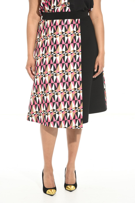 Optical print skirt Intrend