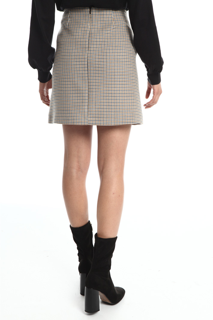 Wool mini-skirt  Intrend