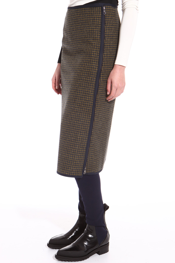 Bonded flannel skirt Intrend