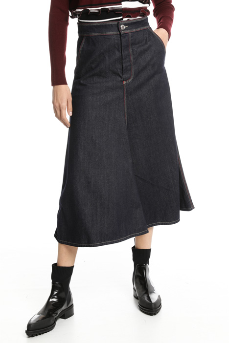 Flared denim skirt Intrend