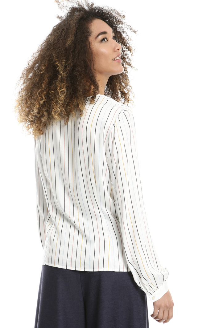 Yarn-dyed twill blouse Intrend