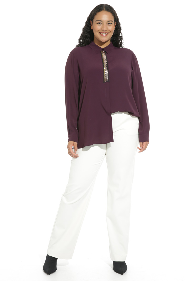 Embroidered silk shirt Intrend