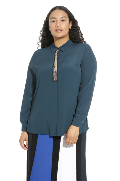 Embroidered silk shirt Intrend