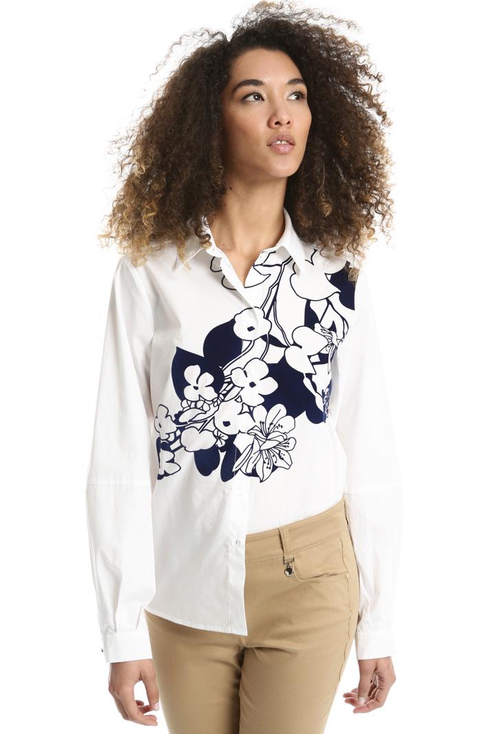 Flock print shirt Intrend