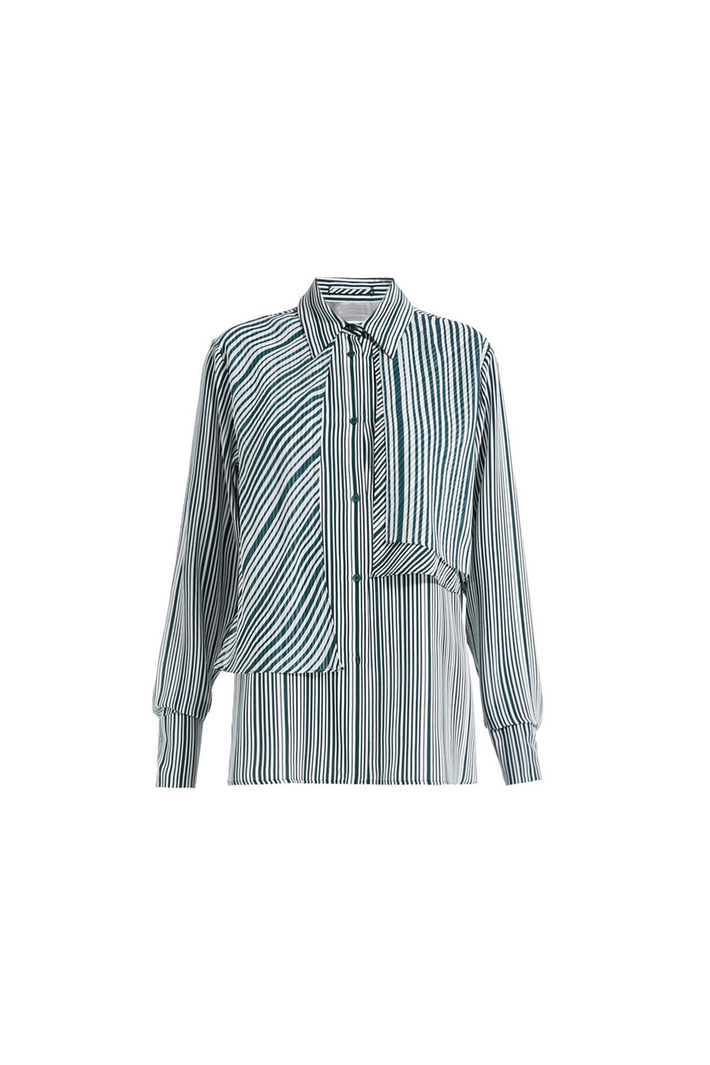 Striped crepe shirt Intrend